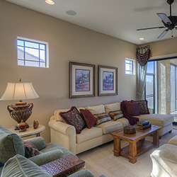 Mesa Condo Living Room Interior Design
